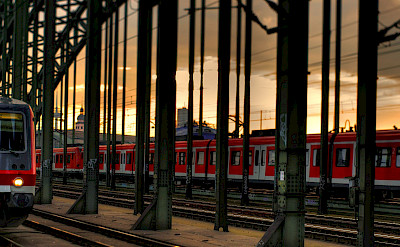 Train station in Cologne, Germany. Flickr:Thomas Dependbusch