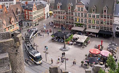 Overlooking from Gravensteen in Ghent, East Flanders, Belgium. Flickr:Ed Webster