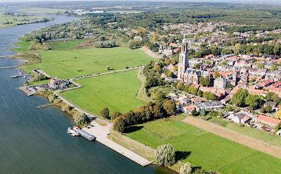 Overlooking Rhenen on the Dutch Rhine in the Netherlands. Wikimedia Commons:Joop van Houdt
