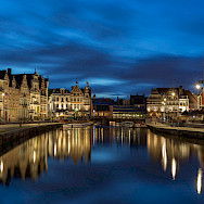 Evening glow in Ghent, East Flanders, Belgium. Flickr:Jiuguangwang