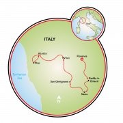 Classic Tuscany E-Bike tour Map
