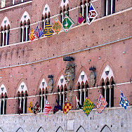 The famous piazza in Siena, Italy. Wikimedia Commons:WPopp