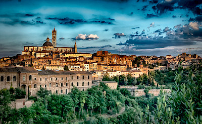 Sunset glow in Siena, whose famous square is a UNESCO World Heritage Site. Flickr:Francesco Gazzola