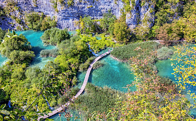 Path in Plitvice Lakes National Park, a UNESCO World Heritage Site. Flickr:Arnie Papp