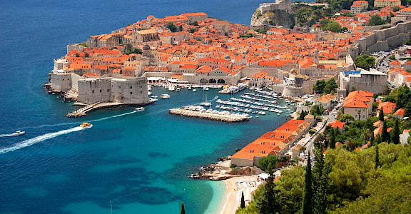 Beautiful city of Dubrovnik along the Dalmatian Coast in Croatia. Photo via TO.