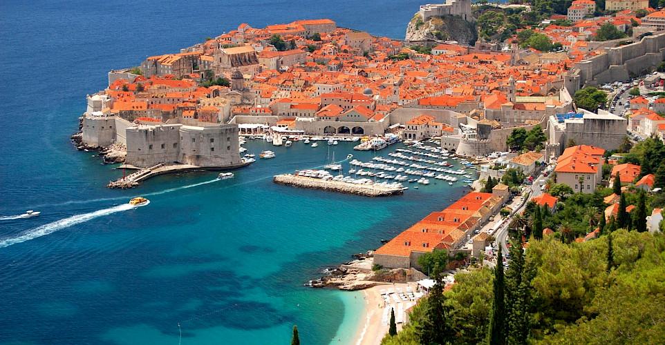 Beautiful city of Dubrovnik along the Dalmatian Coast in Croatia. Photo via TO.
