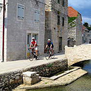Biking beautiful Hvar Island in Croatia. Photo via TO