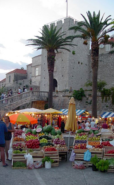 Market on Korcula Island, Croatia. Flickr:Andrea Musi