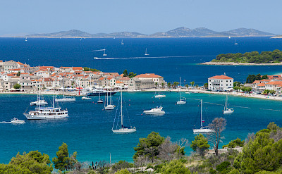 Overlooking boats near Primosten, Croatia. Flickr:Hotel Zora Primosten