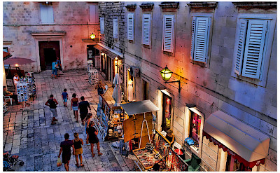 Evening stroll through the historic town of Trogir in Split-Dalmatia County, Croatia. Flickr:Mario Fajt
