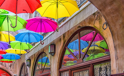 Umbrellas in Split, Croatia. Flickr:Arnie Papp