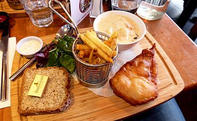 Fish & Chips, a favorite in Ireland. Flickr:David Hernandez
