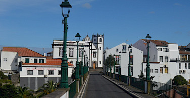 White-washed villages on Sao Miguel Island in the Azores, Portugal. Flickr:Pedro