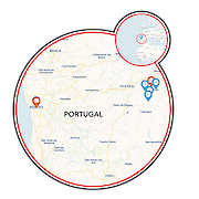 Douro Valley Vineyards Map