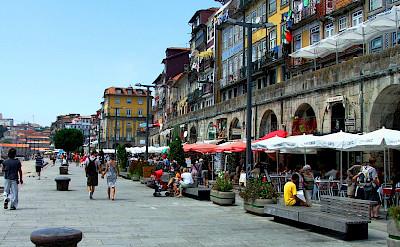 Enjoying a stroll in Porto. Portugal.