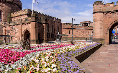 Hiking through Carlisle on the Hadrian's Wall Tour. Flickr:Ed Webster