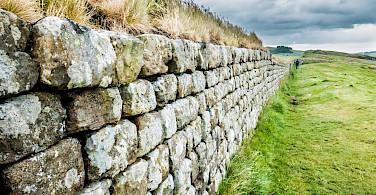 Hadrian's Wall runs some 73 miles through England. Flickr:Mike Locke