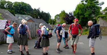 Ready to hike between Heddon-on-the-Wall and Chollerford along Hadrian's Wall in England. Flickr:Claire Fox