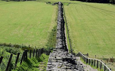 Hadrian's Wall near Gilsland, England. Flickr:John Campbell
