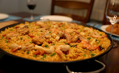Paella is not to be missed in Spain! Flickr:Mackmale