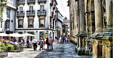 Walking the streets of Santiago de Compostela in Spain. Flickr:Jose Luis Cernadas Iglesias