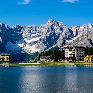 Many mountain lakes found in the Dolomites region of Italy. Flickr:Robert J Heath