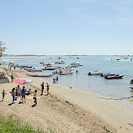 From boots to beach on Sant'Erasmo Island in the Venetian Lagoon, Italy.