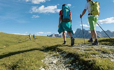Hiking the Dolomites in Italy. Photo via TO