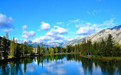 Scenic view of Banff, Alberta, Canada. CC:Balachand