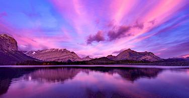 Sunrise in Kananaskis in the Canadian Rockies of Alberta. Photo via Flickr: JD Hascup