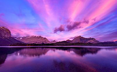 Sunrise in Kananaskis in the Canadian Rockies of Alberta. Flickr:JD Hascup
