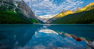 Morning at Lake Louise Lake Louise, Banff, Canada. Photo via Flickr: Jay Huang