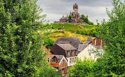 Reichsburg Castle sits atop Cochem in Rhineland-Palatinate, Germany. Flickr:jodage