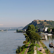 Rhine and Mosel Rivers meet in Koblenz, Germany. Flickr:Filippo Diotalevi