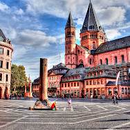 The famous Mainz Cathedral in Mainz, Germany. Flickr:Heribert Pohl