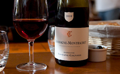 Chassagne-Montrachet wine in Beaune, Burgundy, France. Flickr:Isabel