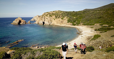 Hiking the Costa Verde Walking Tour in Sardinia, Italy.