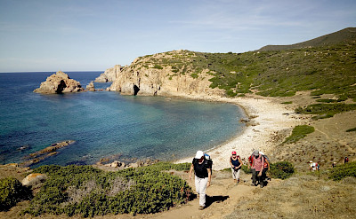 Hiking the Costa Verde Walking Tour in Sardinia, Italy.