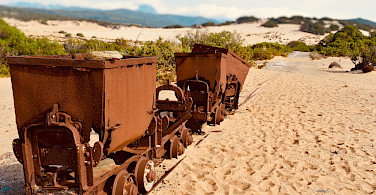 Old mining cars remain on Sardinia. Flickr:wyrd bið ful aræd
