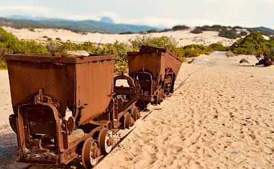 Old mining cars remain on Sardinia. Flickr:wyrd bið ful aræd