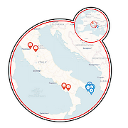 Hike the Heel of Italy Food & Wine Tour Map