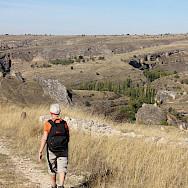 Walking Duraton Canyon on the Segovia Spain Hike Tour. Photo via TO