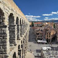 Roman aqueduct in Castilla y Leon, Segovia, Spain. Flickr:Dimitry Dzhuss