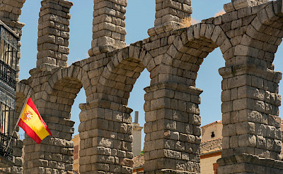 Famous Roman Aqueduct in Segovia, Spain. Flickr:Juan Saez