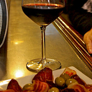 Vino, jamon and olives - all great Spanish flavors! Flickr:Bruno Sanchez-Andrade