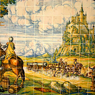 Beautiful tiles of the Alcazar in Segovia, Spain.