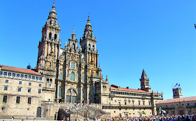 Cathedral of Santiago de Compostela, a UNESCO World Heritage Site, in Galicia, Spain. Flickr:Jose Luis Cernadas Iglesias