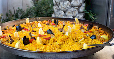 Spain's famous paella is not to be missed! Flickr:Krista