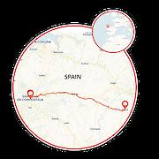 Spanish Way Camino de Santiago Map