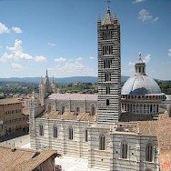 Great architecture on the Tuscany Italy Bike Tour.